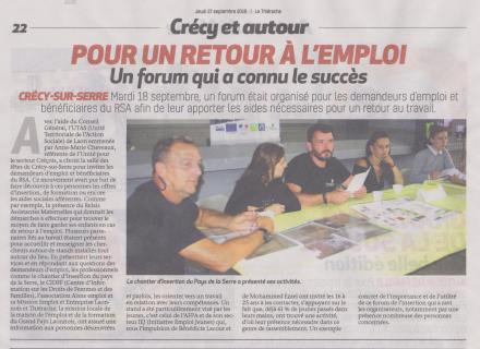 18-09-27 S 39 Crécy-sur-Serre. Pour un retour à l'emploi.....(La Thiérache)