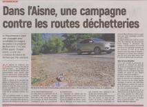 18-10-02 S 40 Contre les routes déchetteries....(L'Aisne Nlle.)