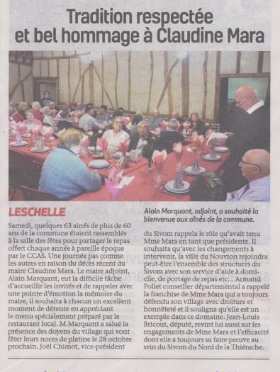 18-10-04 S 40 Leschelle. Homage à Claudine Mara.....(La Thiérache)