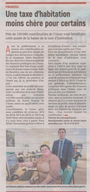 18-10-06 S 40 Taxe d'habitation....(L'Aisne Nlle.)