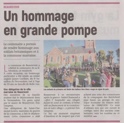 18-10-11 S 41 Beaurevoir. Hommage en grande pompe....(L'Aisne Nlle.)