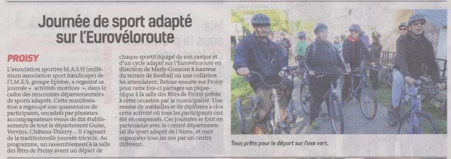 18-10-11 S 41 Proisy. Sport adapté sur l'Eurovéloroute.....(La Thiérache)