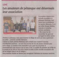 18-10-13 S 41 Lemé. Pétanque Elméroise....(L'Aisne Nlle.)