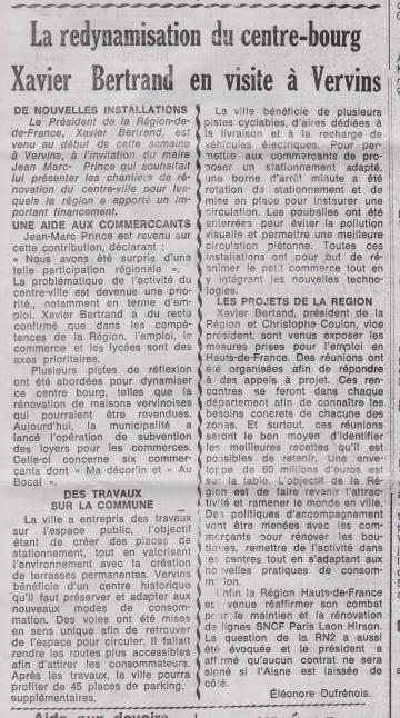 18-10-14 S 42 X.Bertrand à Vervins....(Le Démocrate du 26)