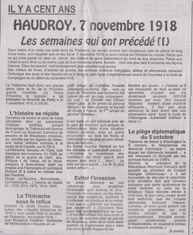 18-10-19 S 41 Il y a 100 ans Haudroy.....(Le Démocrate)