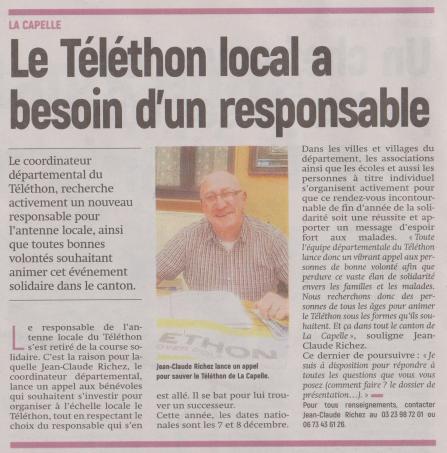 18-10-20 S 42 Téléthon à La Capelle....(L'Aisne Nlle.)