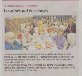 18-10-22 S 43 Le Nouvion-en-Thiérache. Les aînés ont été choyés....(L'Aisne Nlle.)