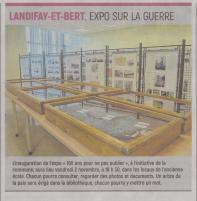 18-10-25 S 43 Landifay. Expo sur la guerre....(L'Aisne Nlle.)
